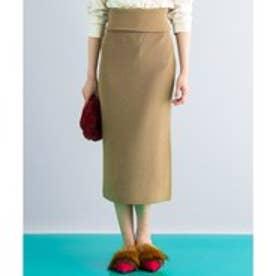 ICB 【セットアップ可・洗える】Wool Ester ニットスカート (キャメル系)
