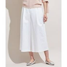 ICB 【洗える】 Double Cloth ワイドパンツ (ホワイト系)