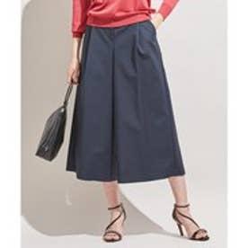 ICB 【洗える】 Double Cloth ワイドパンツ (ネイビー系)