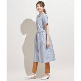 ICB 【WEBマガジン掲載】Stripe シャツワンピース (ダルブルー系1)