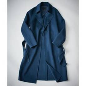 ICB(大きいサイズ) Wool Rever トレンチ型コート (ブルー系)