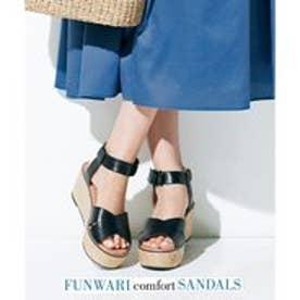 自由区 【マガジン掲載】FUNWARI サンダル(検索番号D76) (ブラック)