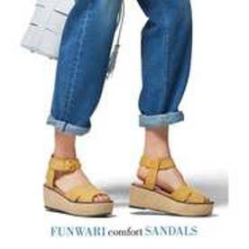 自由区 【マガジン掲載】FUNWARI サンダル(検索番号D76) (ライトイエロー)