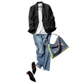 自由区 【定番】Sartiウールプレシャスジャージー ジャケット (検索番号Q16) (ブラック)