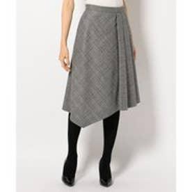 自由区 【Class Lounge】CLASSIAL CHECK スカート (ブラウン系3)