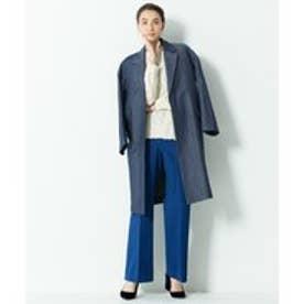 自由区 【Class Lounge】TWIST DOUBLE CLOTH パンツ(検索番号Y53) (ダルブルー系)