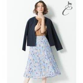 自由区 【Class Lounge】BOUQUET PRINT スカート(検索番号Y56) (スカイブルー系6)