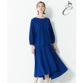 自由区 【Class Lounge】LUSTER ニットスカート(検索番号Y67) (ブルー)