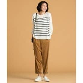 自由区 【洗える】DRAWSTRING PANTS パンツ (キャメル系)