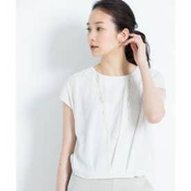 自由区 L 【マガジン掲載】ラメパルサー 半袖プルオーバー(検索番号H52) (ホワイト)