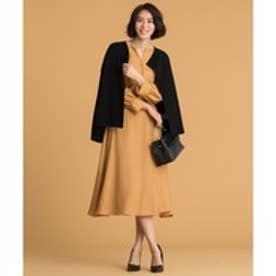 自由区(大きいサイズ) 【マガジン掲載】AIRY VIERA スカート(検索番号S39) (キャメル)
