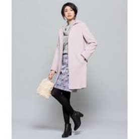組曲 【MORE12月号掲載/フード取り外し可】ウールアンゴラビーバー ロングコート (ピンク系)