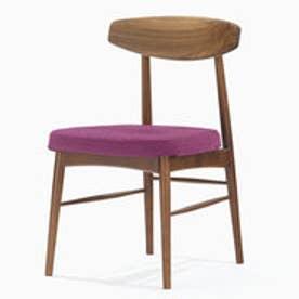 IDC OTSUKA/大塚家具 椅子 ユノA WN/カバー布#2 パープル (パープル)【返品不可商品】