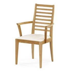 IDC OTSUKA/大塚家具 椅子(アーム) N005 #PVC/WOナラ アイボリー (ホワイトオーク)【返品不可商品】