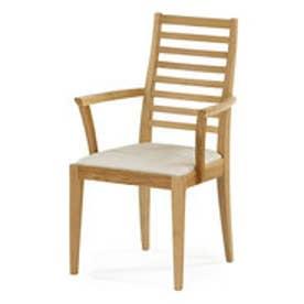IDC OTSUKA/大塚家具 椅子(アーム) N005 #PVC/WOナラ ベージュ (ホワイトオーク)【返品不可商品】