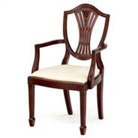 IDC OTSUKA/大塚家具 椅子(アーム) シールド3 マットNマホガニー2 (マホガニー)【返品不可商品】