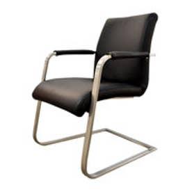 IDC OTSUKA/大塚家具 椅子アーム1857-32革BKスチール (ブラック)