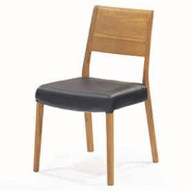 IDC OTSUKA/大塚家具 椅子 シネマ B2タイプ レッドオーク材/WO色 PVCブラック (ホワイトオーク)