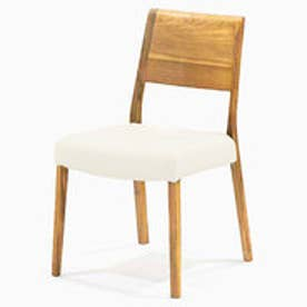 IDC OTSUKA/大塚家具 椅子 シネマ B2タイプ レッドオーク材/WO色 PVCアイボリー (ホワイトオーク)