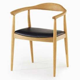 IDC OTSUKA/大塚家具 椅子(アーム) DM-AK003 革Nブラック/WOナラ (ホワイトオーク)【返品不可商品】