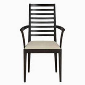 IDC OTSUKA/大塚家具 椅子(アーム) N005 #PVC/DB ナラ ベージュ (ダークブラウン)【返品不可商品】