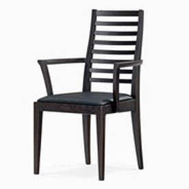 IDC OTSUKA/大塚家具 椅子(アーム) N005 #PVC/DB ナラ ブラック (ダークブラウン)