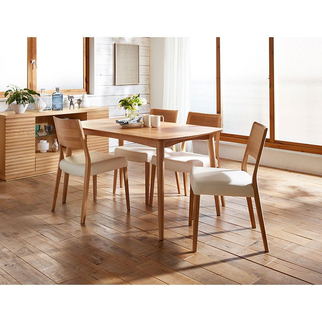 IDC OTSUKA/大塚家具 ダイニングテーブル シネマ3 レッドオーク材 1800タイプ ホワイトオーク色 (ホワイトオーク)