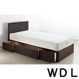IDC OTSUKA/大塚家具 ベッドフレーム ヴェルデ DB ワイドダブルロング(WDL) (ダークブラウン)