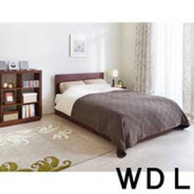 IDC OTSUKA/大塚家具 ベッドフレーム 引付 DM-GF007 ウォールナット 宮無し ワイドダブルロング(WDL) (ウォールナット)