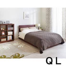 IDC OTSUKA/大塚家具 ベッドフレーム 引付 DM-GF007 ウォールナット 宮無し クィーンロング(QL) (ウォールナット)