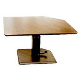 IDC OTSUKA/大塚家具 テーブル フィット 昇降式 Aタイプ(五角形) ハイタイプ (オーク材・無垢)【返品不可商品】