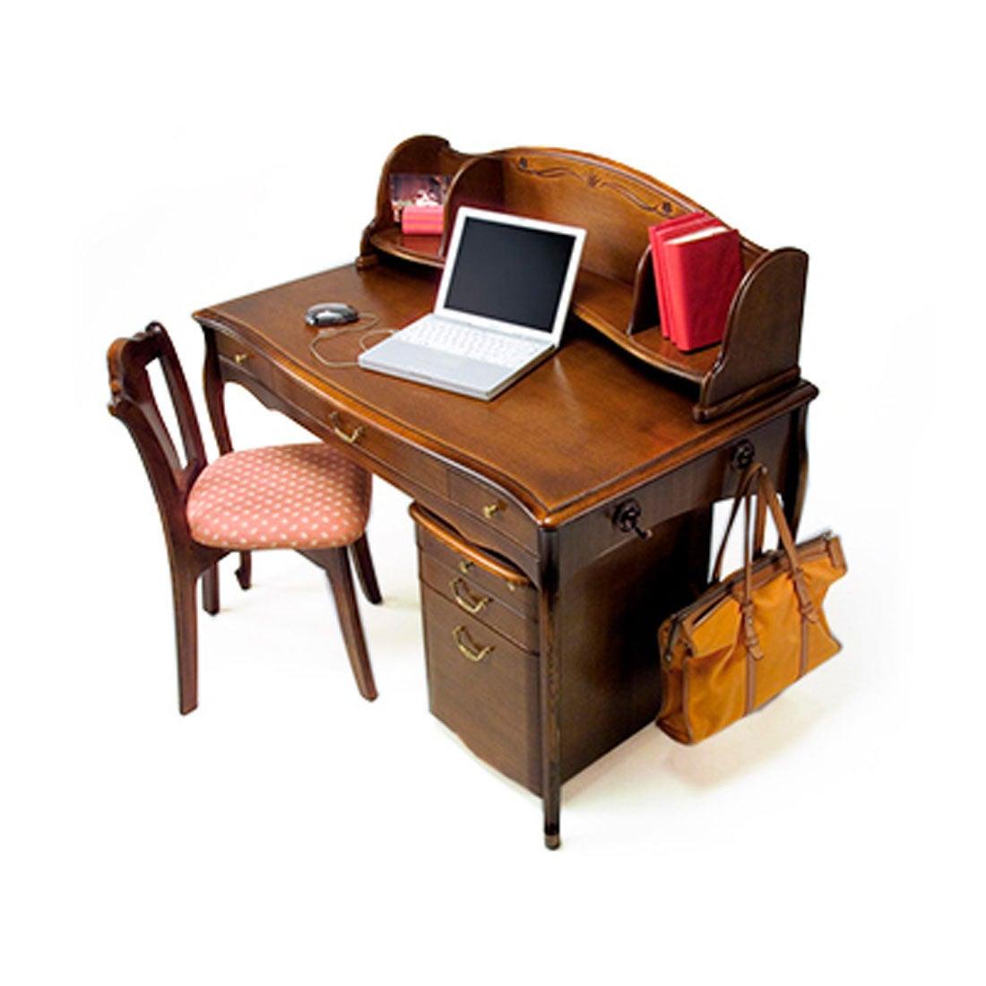 IDC OTSUKA/大塚家具 学習机セット カンティーニュ デスク、上置、ワゴン付 アンティーク色 (アンティーク)