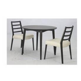 IDC OTSUKA/大塚家具 ダイニングテーブル 丸型 シネマ 900タイプ オーク材/Dダークブラウン色 (ダークブラウン)