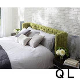 IDC OTSUKA/大塚家具 ベッドフレーム タクロー クイーンロング(QL) 布ライトグリーン (ライトグリーン)