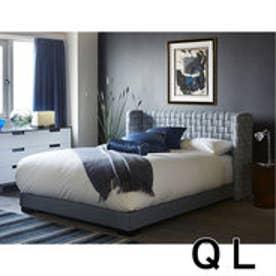IDC OTSUKA/大塚家具 ベッドフレーム タクロー クイーンロング(QL) 布グレー (グレー)