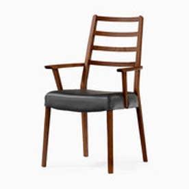 IDC OTSUKA/大塚家具 椅子 シネマ(ハイバック肘付) Aタイプ ウォールナット材/WN2色 PVCブラック (ウォールナット)【返品不可商品】