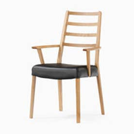 IDC OTSUKA/大塚家具 椅子 シネマ(ハイバック肘付) Aタイプ レッドオーク材/WO色 PVCブラック (ホワイトオーク)【返品不可商品】