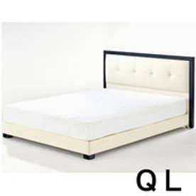 IDC OTSUKA/大塚家具 ベッドフレーム Nジオ ホワイト クイーンロング(QL) (ホワイト)