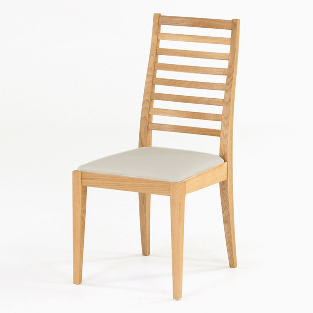 IDC OTSUKA/大塚家具 椅子 N005 #PVC/WOナラ ベージュ (ホワイトオーク)