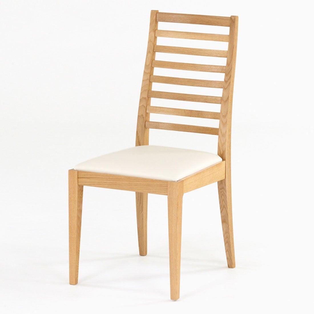 IDC OTSUKA/大塚家具 椅子 N005 #PVC/WOナラ アイボリー (ホワイトオーク)