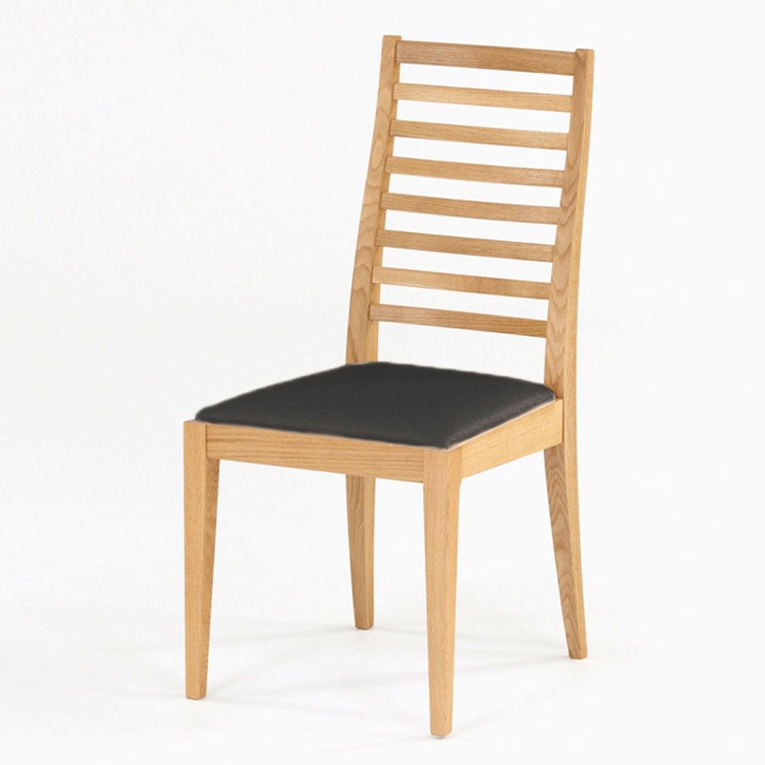 IDC OTSUKA/大塚家具 椅子 N005 #PVC/WOナラ ブラック (ホワイトオーク)