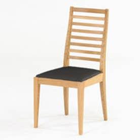 IDC OTSUKA/大塚家具 椅子 N005 #PVC/WOナラ ブラック (ホワイトオーク)【返品不可商品】