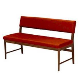IDC OTSUKA/大塚家具 ベンチ 背付き フィル2 (本体+カバー) レッドオーク材/DB色 オレンジ (オレンジ)
