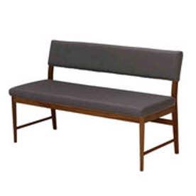 IDC OTSUKA/大塚家具 ベンチ 背付き フィル2 (本体+カバー) レッドオーク材/DB色 ブラウン (ブラウン)