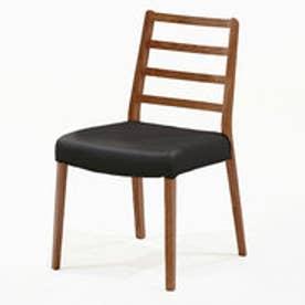 IDC OTSUKA/大塚家具 椅子 シネマ Aタイプ ウォールナット材/WN2色 PVCブラック (ウォールナット)【返品不可商品】