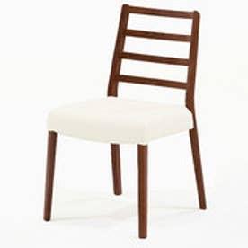 IDC OTSUKA/大塚家具 椅子 シネマ Aタイプ レッドオーク材/DDB色 PVCアイボリー (ダークブラウン)