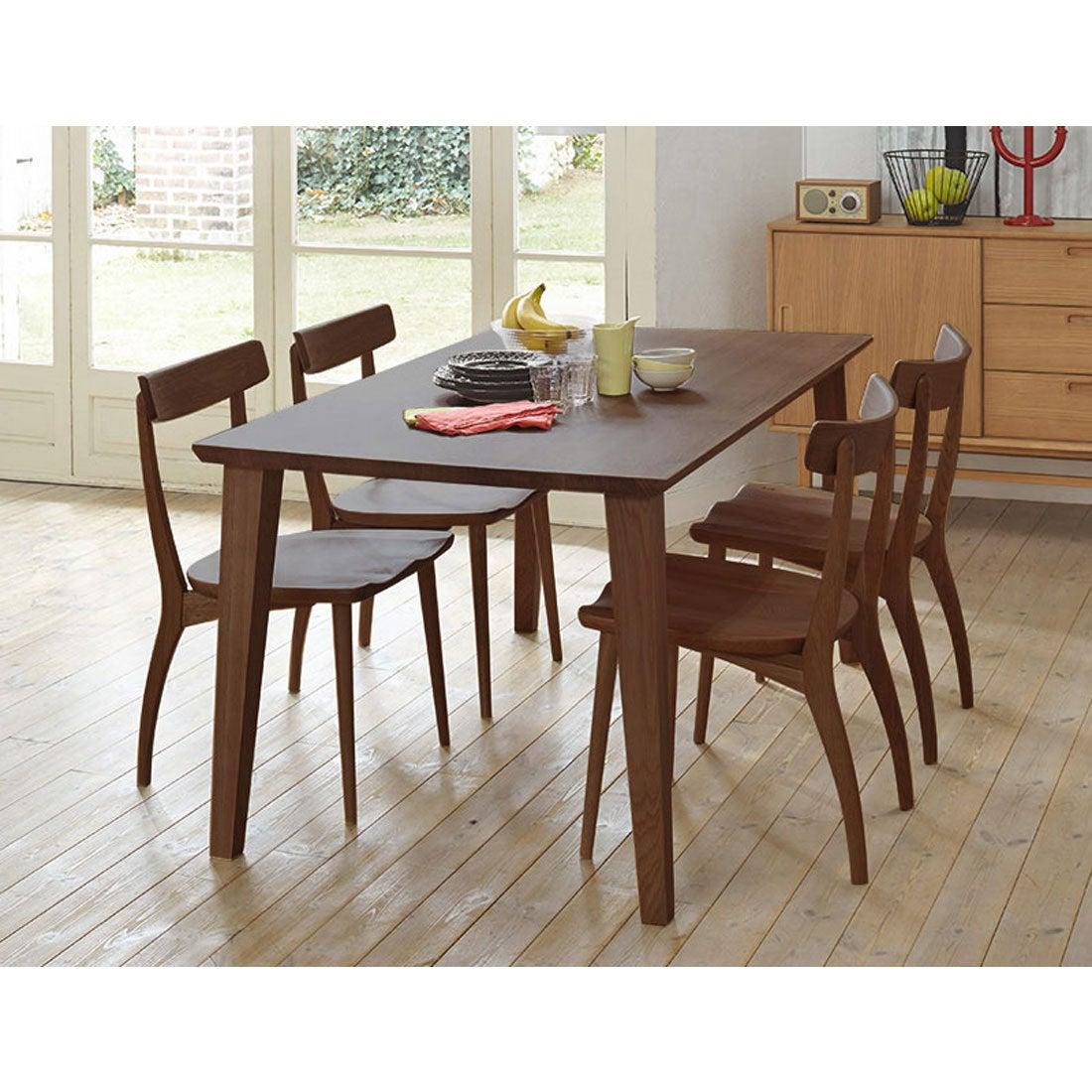 IDC OTSUKA/大塚家具 ダイニングテーブル フィル3 角丸天板/木製脚 W1350/ウォールナット材WN2色(ウォールナット)