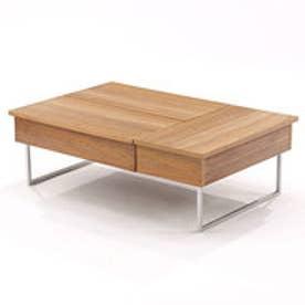 IDC OTSUKA/大塚家具 センターテーブル ネーベル 金脚 ホワイトオーク色 (ナチュラル)【返品不可商品】