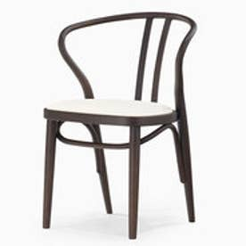 IDC OTSUKA/大塚家具 椅子 503-OU PVC#IV/DBナラ (ダークブラウン)【返品不可商品】