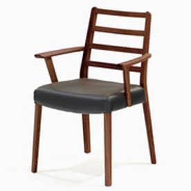 IDC OTSUKA/大塚家具 椅子 シネマ(肘付) Aタイプ ウォールナット材/WN2色 PVCブラック (ウォールナット)